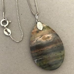 Natural Stone Sterling Box Chain